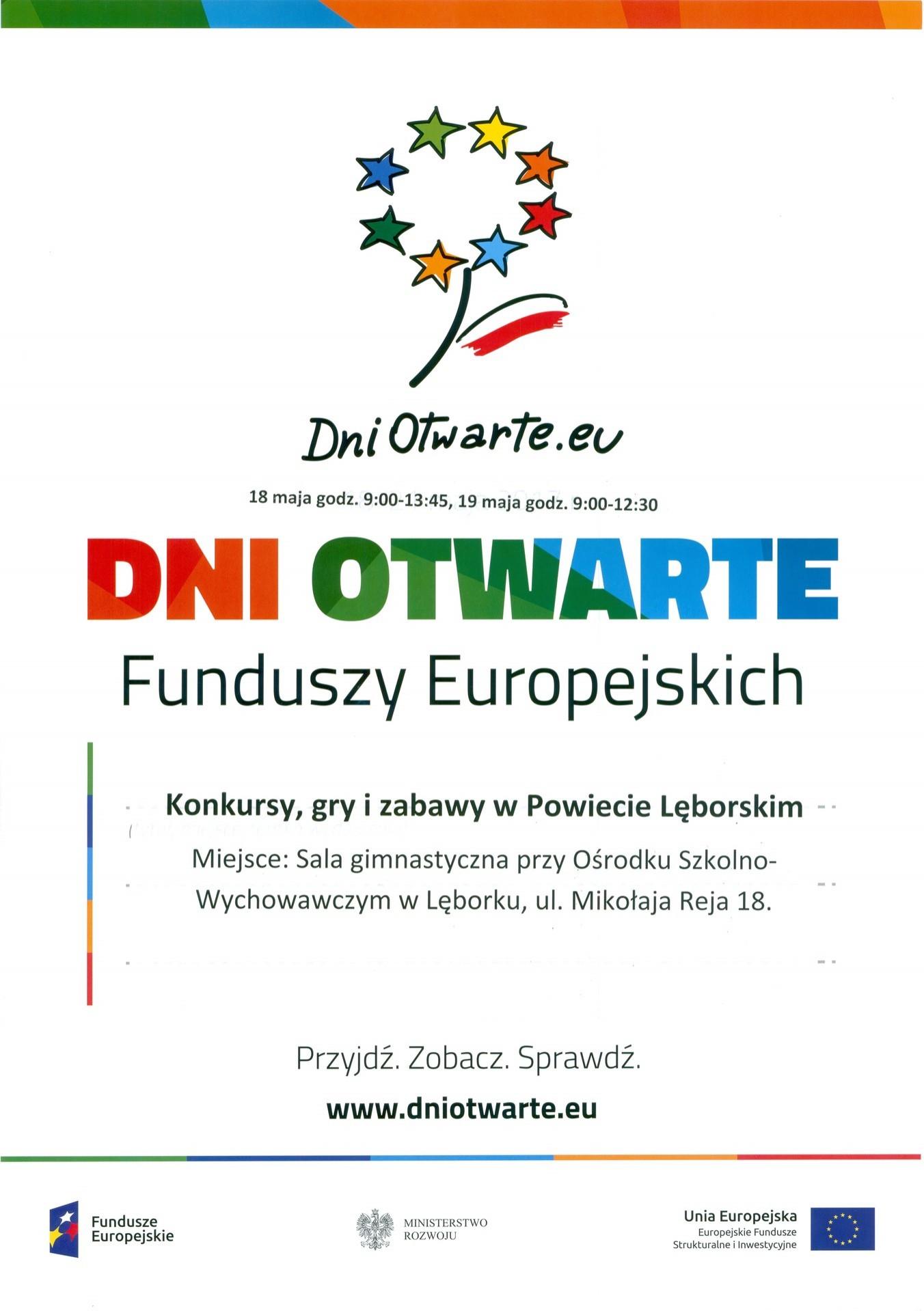 Zaproszenie Na Dni Otwarte Starostwo Powiatowe W Lęborku